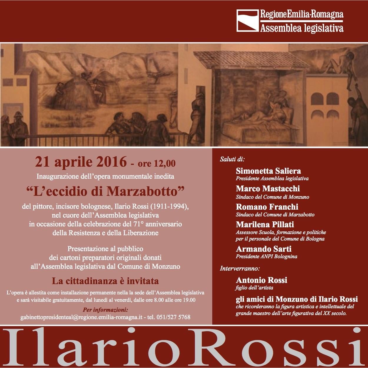Ilario Rossi, Regione Emilia Romagna, mostra, Marzabotto