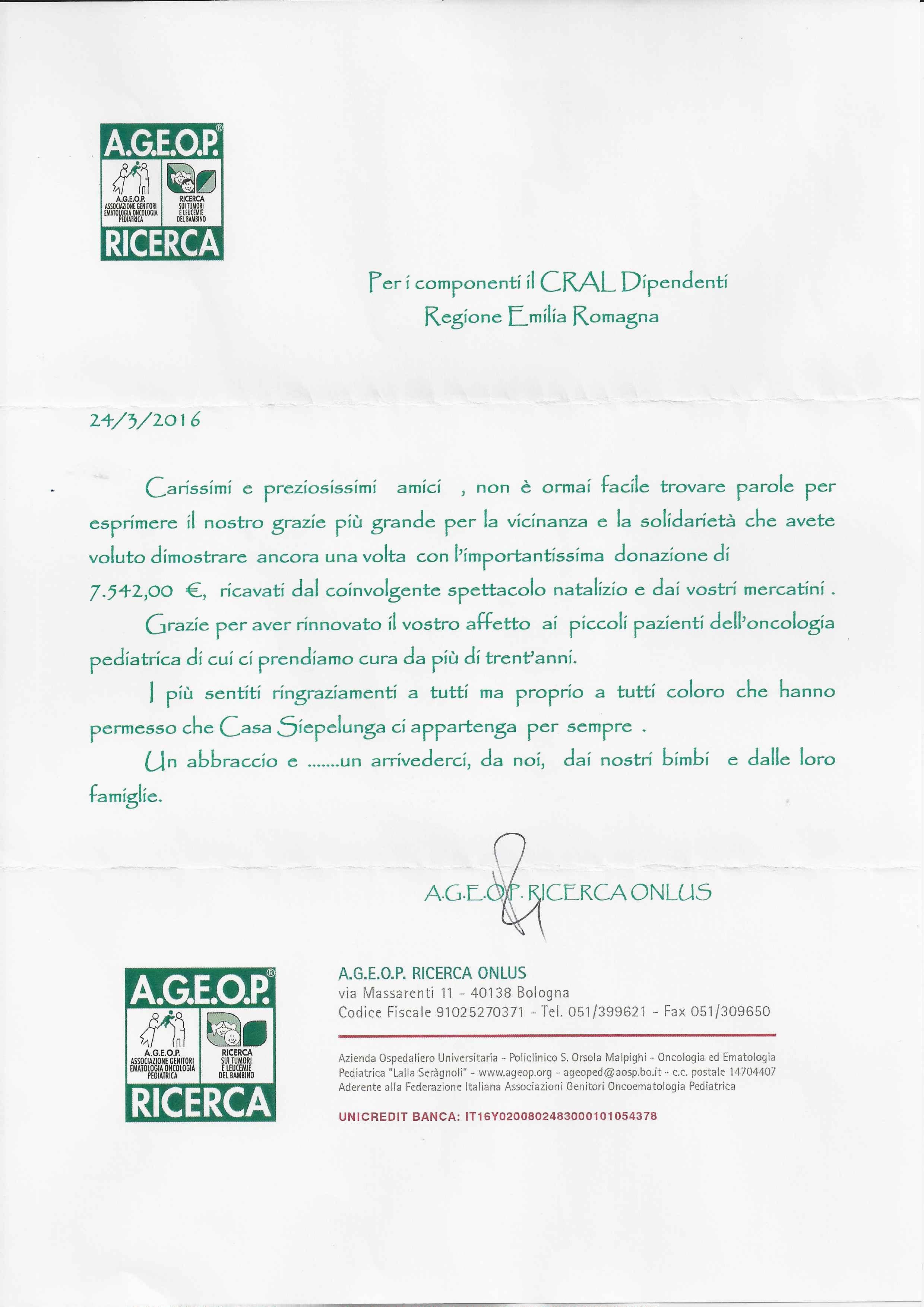 ageop, circolo dipendenti emilia romagna, lettera
